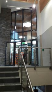 Lidl, fire resistant curtain wall